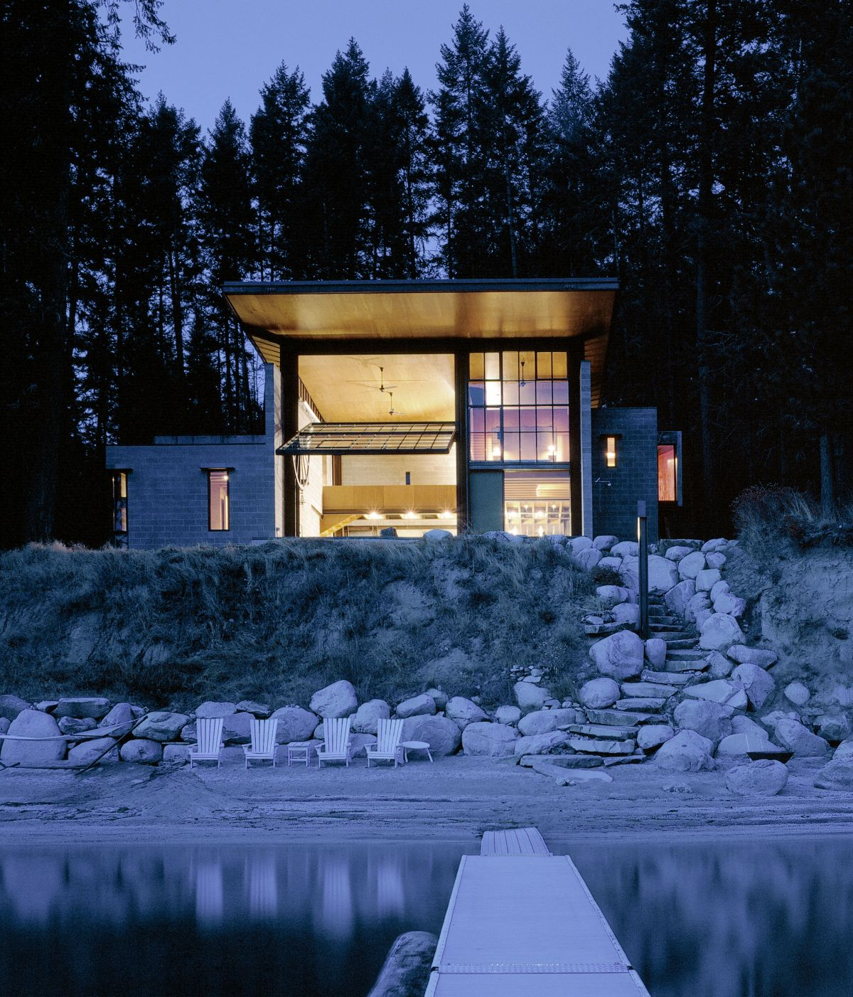 Chicken Point Cabin - Olson Kundig Architects, Arquitectura, casas, diseño